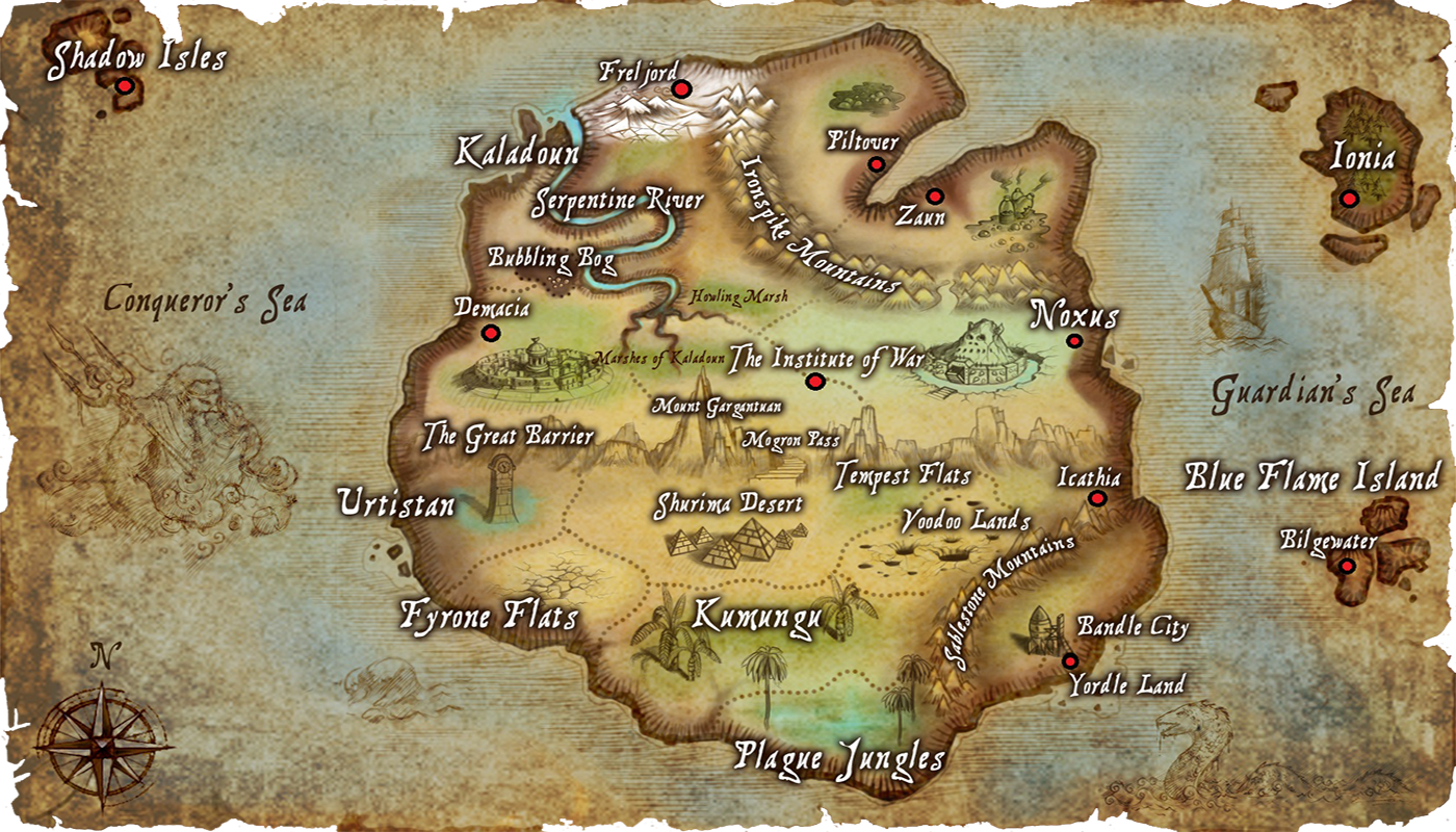 Karte von Runeterra